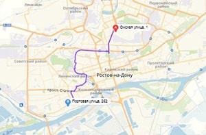 маршрут эвакуатора в ростове-на-дону: ул. Омская 1 - ул. Портовая 262 (14 км), буксир 24
