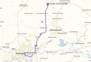 маршрут эвакуатора в ростов-на-дону: М4-Дон - г. Ростов-на-Дону (62 км), буксир 24