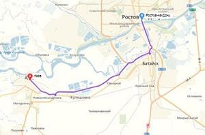 маршрут эвакуатора в ростов-на-дону: г. Азов - г. Ростов-на-Дону (38 км), буксир 24